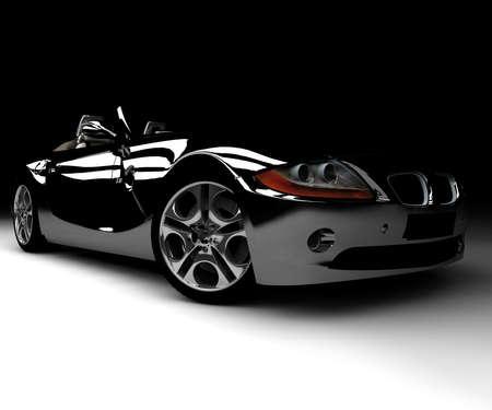 dream car: Un coche negro frente Foto de archivo