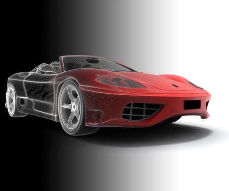Wireframe car photo