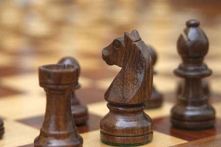 strategic advantage: Chess Stock Photo