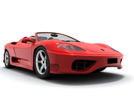 Red sport car Stockfoto - 5340908
