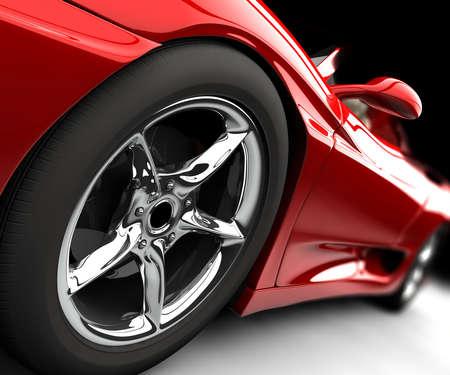 alloy wheel: Red car
