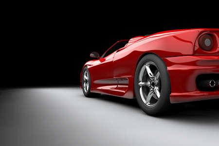 赤い車 写真素材