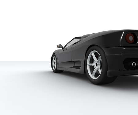 dream car: Un coche negro deporte visto por detr�s  Foto de archivo