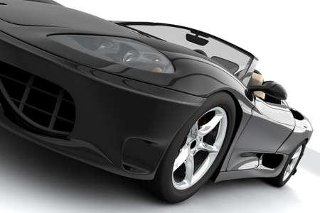 presti: Czarne auto sportowe izolowane na białym