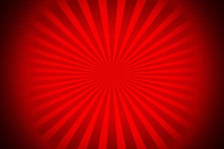 赤いサンバースト vectorialized 黒のコーナーと線