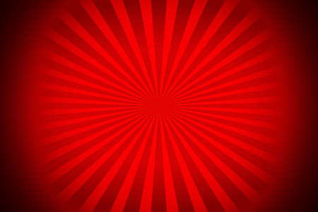 A red sunburst vectorialized rays with black corners