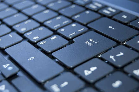 Close up on a black keyboard of a laptop Stock Photo - 7281079