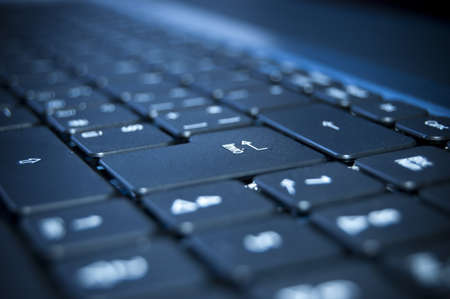 Close up on a black keyboard of a laptop Stock Photo - 7281006