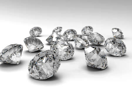 queen of diamonds: Many diamonds isolated on a white plane