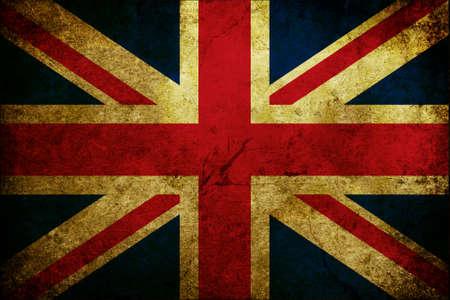 グランジ傷、英国の旗 写真素材