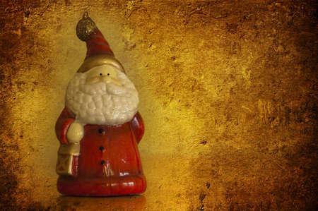A grunge christmas card of Santa Clouse Stock Photo - 7654687