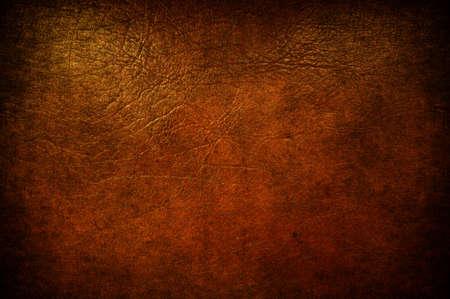 peau cuir: Un cuir brun de grunge utilis� comme arri�re-plan