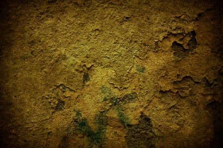 A cracked light yellow grunge concrete background Stock Photo - 7654939