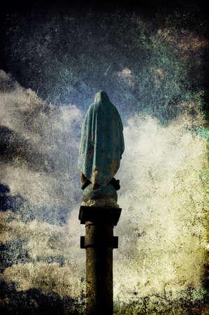 holy mary: A back grunge image of Virgo Maria