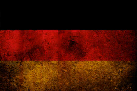 An old grunge flag of Germany state photo