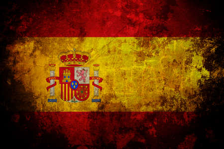 An old grunge flag of Spain state Stock Photo