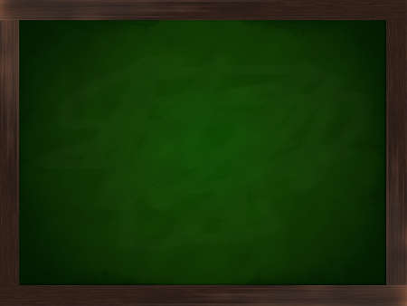 A green chalkboard in a frame of wood