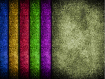 Grunge strip of colored papers photo