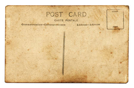 Reverse side of an old grunge postcard Stock Photo - 7725303