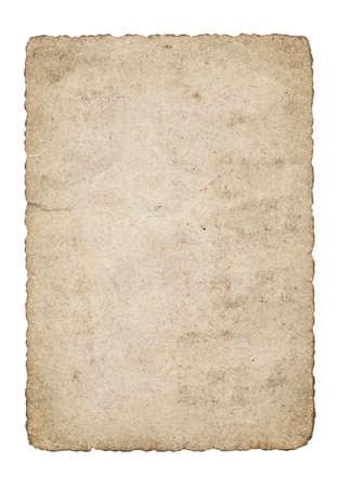 An isolated old grunge paper on a white background photo