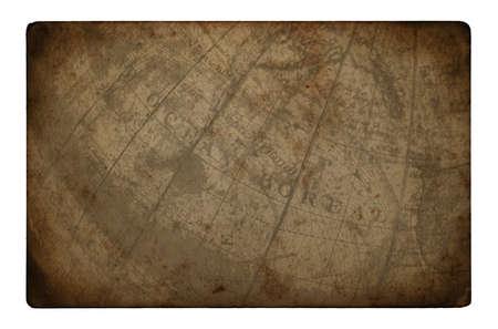 papier brul�: Une carte de papier br�l� vintage vieux