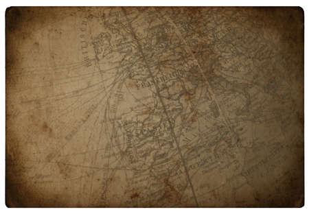古いビンテージ茶色燃やされたペーパー地図
