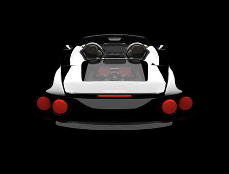 car showroom: A modern and elegant black car illuminated Stock Photo