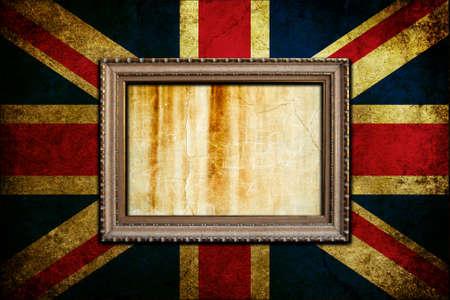 A Vintage frame on an England flag photo