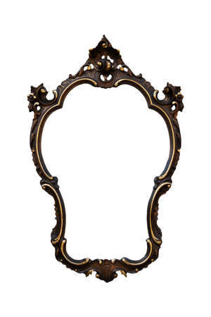 A vintage golden frame isolated on a white background Stock Photo - 8017655