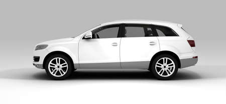 new motor car: A white ecological car isolated on background