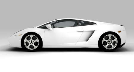 costly: A white ecological car isolated on background