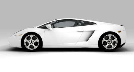 Un bianco auto ecologico isolato sullo sfondo Archivio Fotografico - 8135230