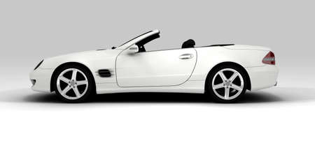 kilometraje: Un coche ecol�gico blanco aislado en segundo plano