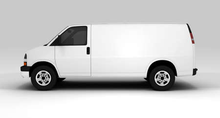 A white van isolated on a background photo