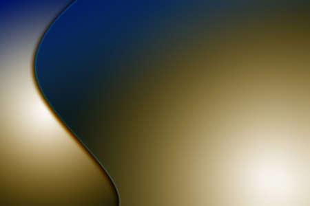 色の青および金の背景光と影