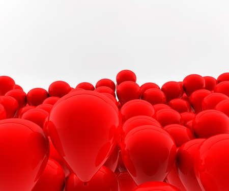 Many red balloons fly in the air Stock Photo - 8509142