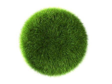 A grass ball isolated on a white background photo