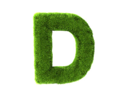 d: A grass d isolated on a white background Stock Photo