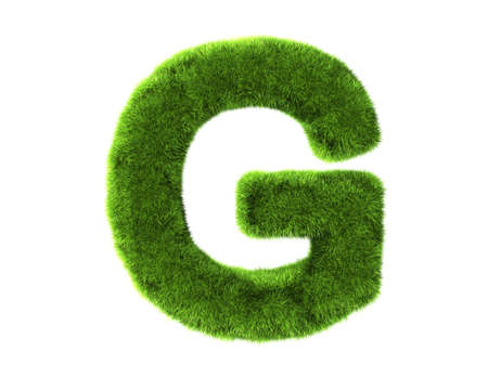 Un g erba isolato su uno sfondo bianco Archivio Fotografico