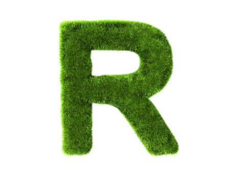 r: A grass r isolated on a white background