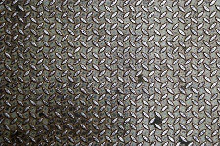 Background of old metal diamond plate in brown color Stock Photo - 8975304