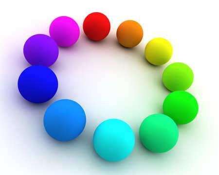 Astratto con molte sfere colorate Archivio Fotografico
