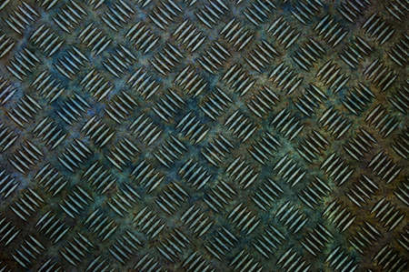 Background of old metal diamond plate in brown color Stock Photo - 9356946