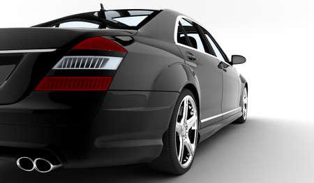 presti: Nowoczesny i elegancki czarny samochód oświetlone
