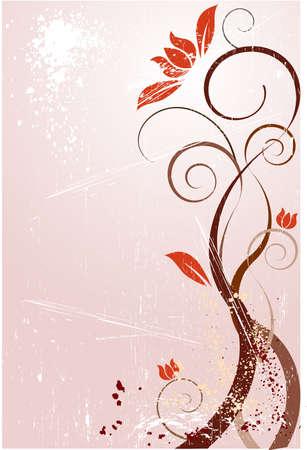 Grunge flower Vector