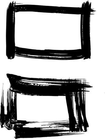 Montures noires Vecteurs