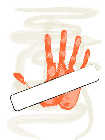A tagged hand Vector