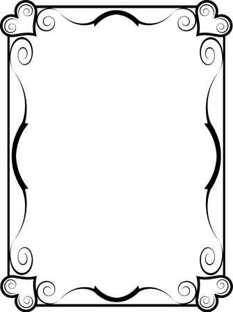 黒と白のハート フレーム 写真素材 - 9717146