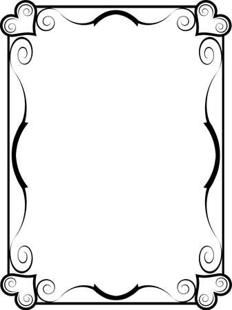 A black and white heart frame