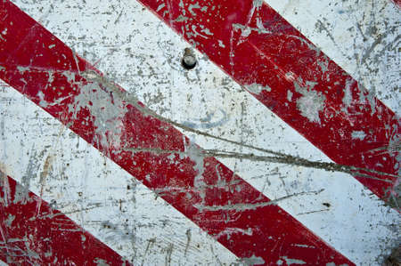 hazard stripes: A texture with white and red danger strips